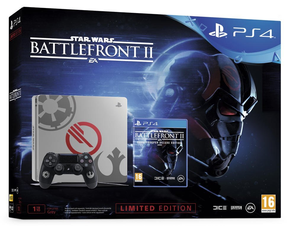 PS4 Slim 1To + Star Wars Battlefront II: Deluxe Edition