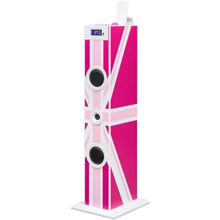 BIGBEN TW5GBGIRLY Tour de son multimédia avec micro - 20W - Great Britain Rose